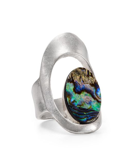 Robert Lee Morris | Metallic Abalone Cutout Ring | Lyst