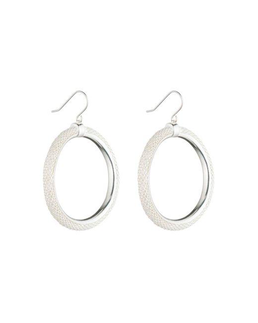 Ralph Lauren - Metallic Lauren Frozen Hoop Earrings - Lyst