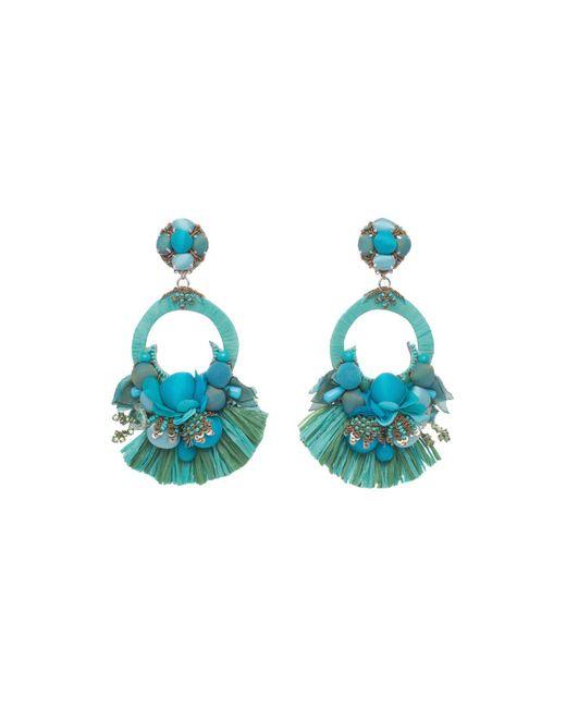 Ranjana Khan | Blue Petal Clip-on Drop Earrings | Lyst