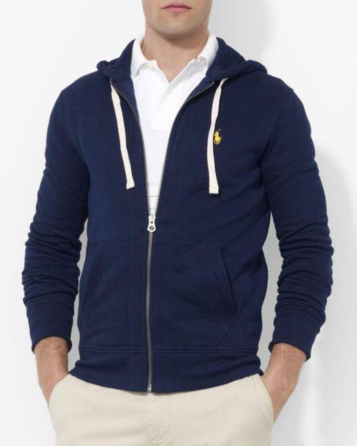 Polo Ralph Lauren - Blue Classic Full-zip Fleece Hoodie for Men - Lyst
