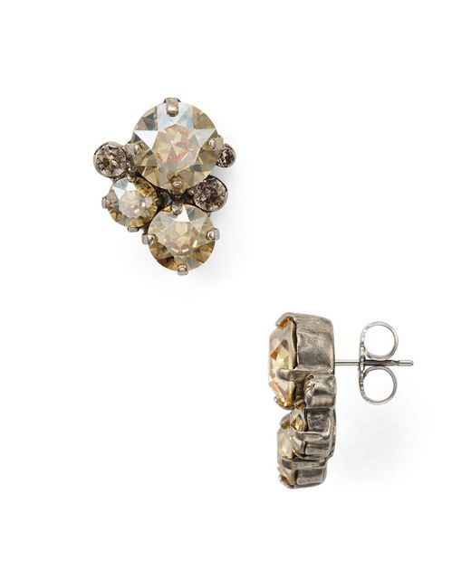 Sorrelli - Multicolor Crystal Assorted Rounds Post Earring - Lyst