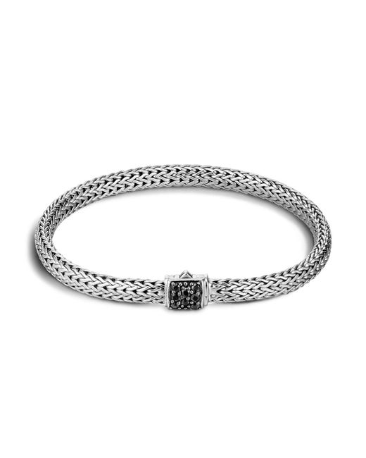 John Hardy - Metallic Classic Chain Sterling Silver Lava Extra Small Bracelet With Black Sapphire - Lyst