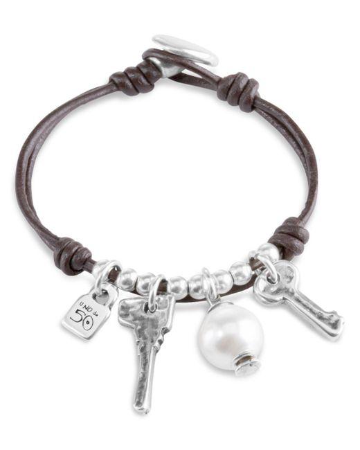 Uno De 50 - Metallic Ojito Toggle Bracelet - Lyst