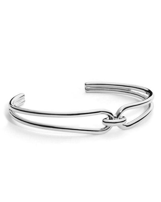 Shinola - Metallic Sterling Silver Lug Open Cuff Bracelet - Lyst