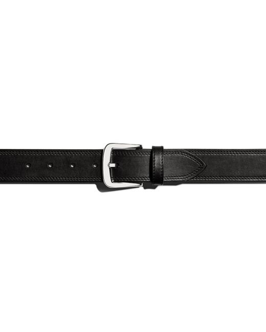 Shinola - Black Double Stitch Belt for Men - Lyst