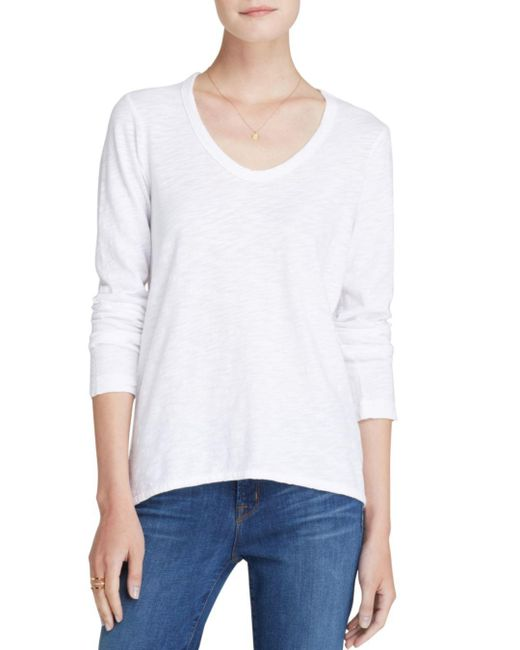 Wilt - White Shrunken Boyfriend Top - Lyst