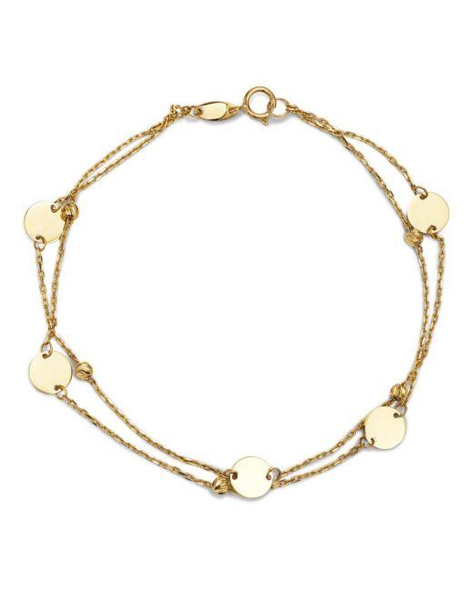Moon & Meadow - Metallic Layered Disc & Bead Bracelet In 14k Yellow Gold - Lyst