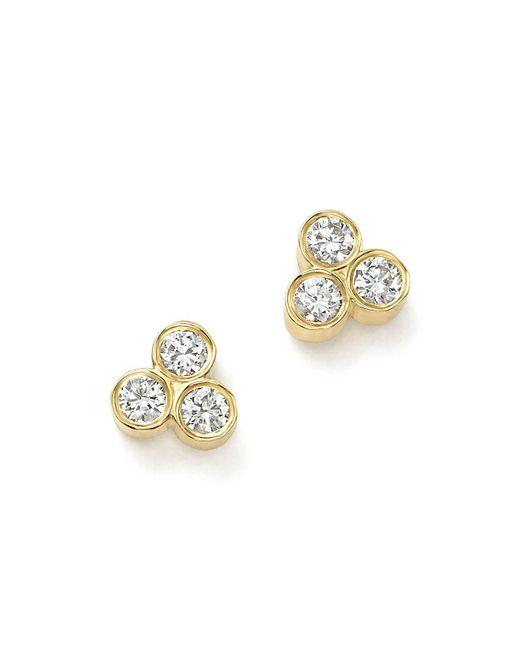 Zoe Chicco - Metallic 14k Yellow Gold Diamond Trio Stud Earrings - Lyst