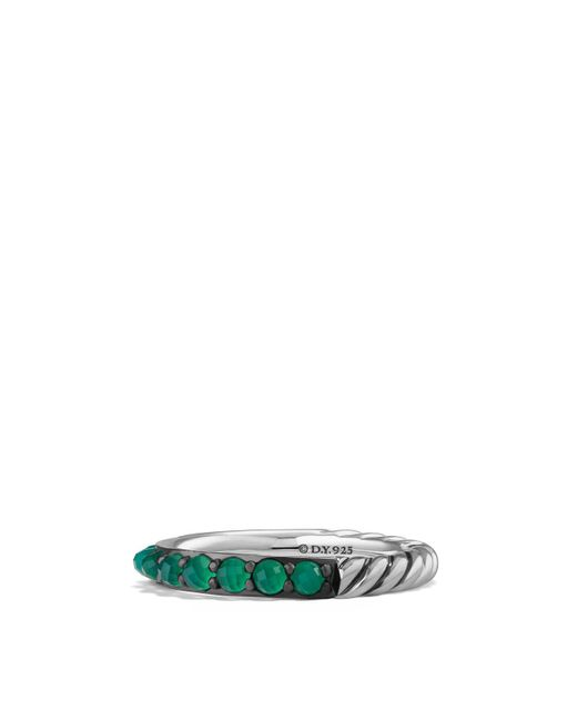 David Yurman - Osetra Band Ring With Green Onyx - Lyst