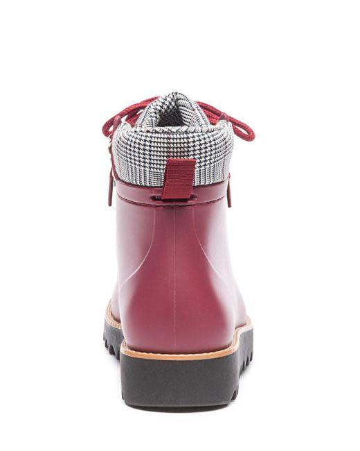 7f5318e470fb91 ... Bernardo - Multicolor Winnie Hiker Rain Boot (black Rubber black white  Plaid)