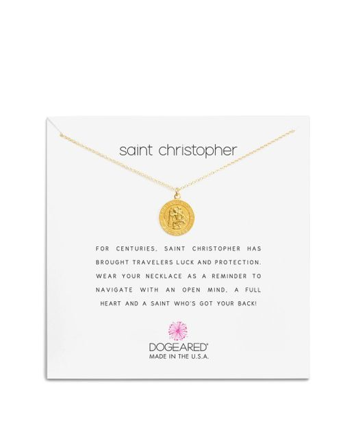 Dogeared - Metallic St. Christopher Necklace - Lyst