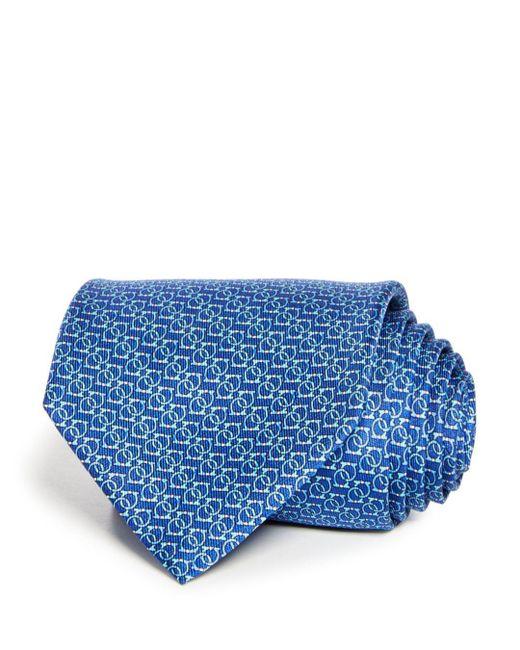 Ferragamo - Blue Forte Gancini Classic Tie for Men - Lyst