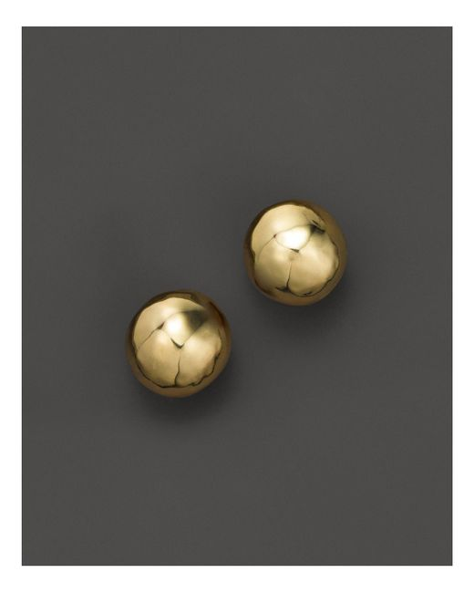 Ippolita - Metallic Glamazon® 18k Gold Hammered Ball Stud Earrings - Lyst