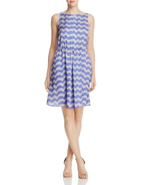 Armani - Blue Wave-print Dress - Lyst