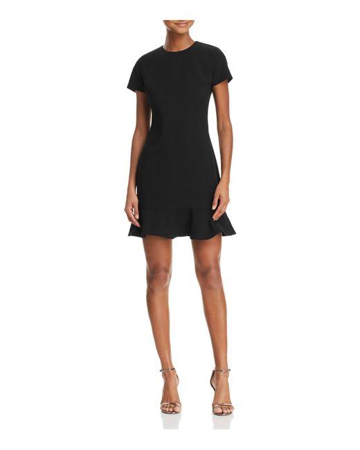 Likely - Black Beckett Flounced-hem Dress - Lyst