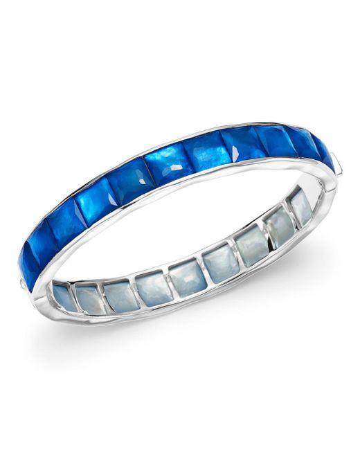 Ippolita - Blue Sterling Silver Rock Candy® Wonderland Channel Set Bracelet In Ultramarine - Lyst