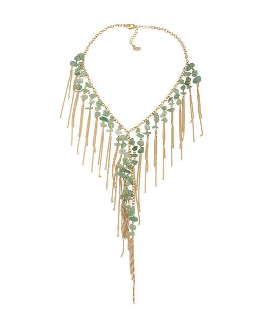 ABS By Allen Schwartz - Metallic Bib Statement Necklace - Lyst