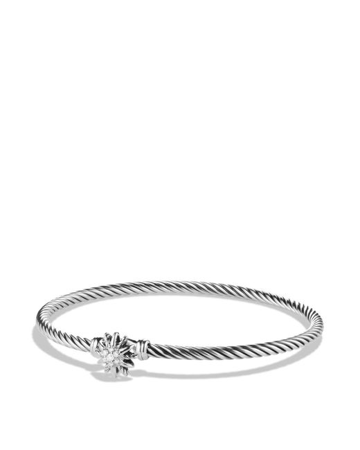 David Yurman | Metallic Starburst Single-station Cable Bracelet With Diamonds | Lyst
