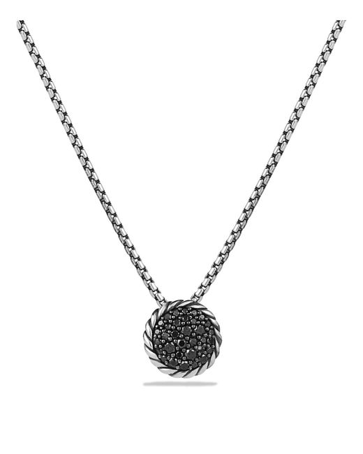 David Yurman - Metallic Châtelaine Pavé Pendant Necklace With Black Diamonds - Lyst