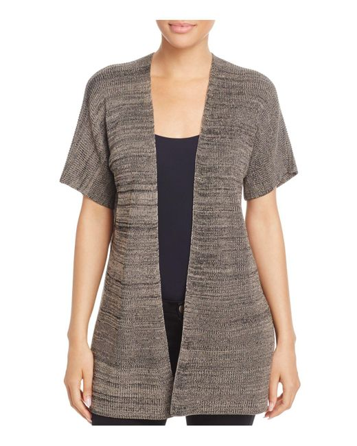 Eileen Fisher | Gray Kimono Style Cardigan | Lyst