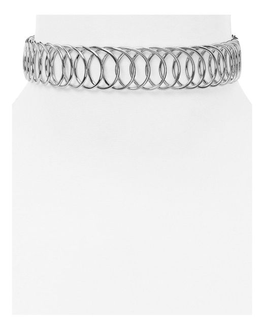 Aqua | Metallic Jacinda Choker Necklace | Lyst