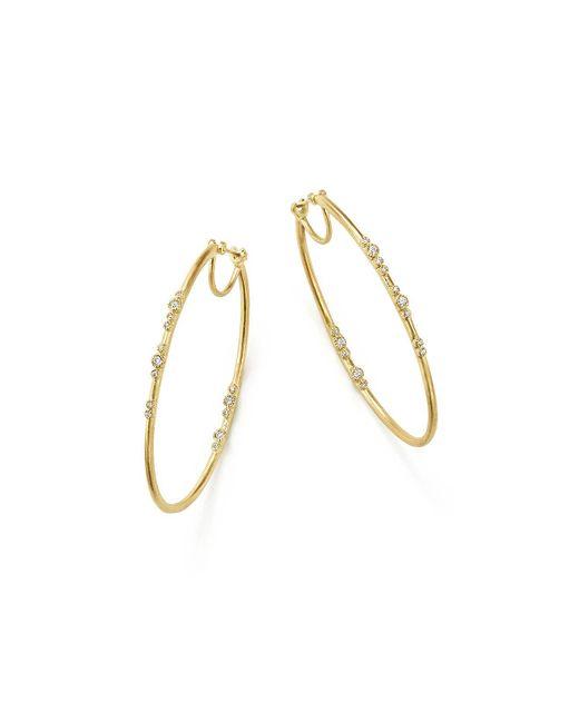 Armenta | Metallic 18k Yellow Gold Sueno Diamond Eternity Hoop Earrings | Lyst