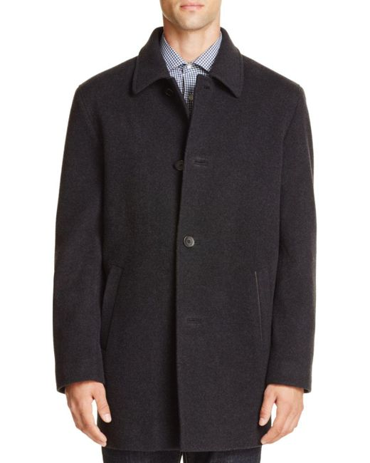 Cole Haan - Gray Wool Cashmere Topper Coat for Men - Lyst