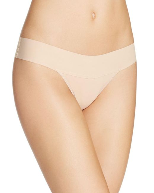 Hanky Panky - Brown Bare Eve Natural Rise Thong - Lyst