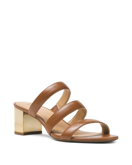 MICHAEL Michael Kors - Brown Women's Paloma Flex Slide Sandals - Lyst