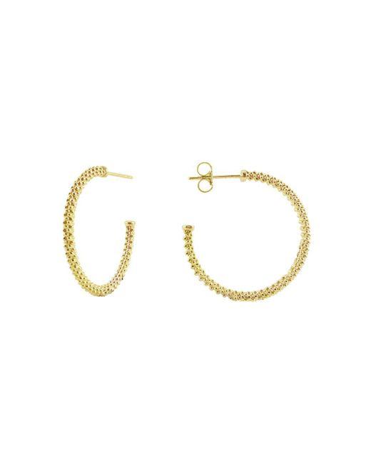 Lagos - Metallic 'caviar Gold' Hoop Earrings - Lyst