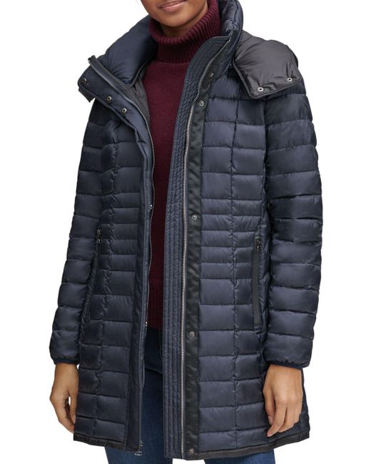 Marc New York - Blue Marble Packable Hooded Puffer Coat - Lyst