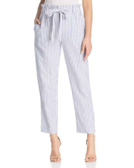 Beach Lunch Lounge - Natural Striped Tie-waist Crop Pants - Lyst