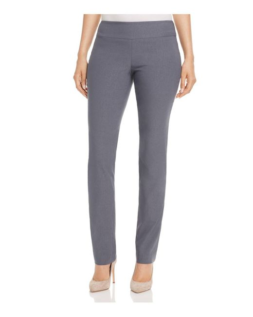 NIC+ZOE | Gray Nic+zoe Wonderstretch Straight-leg Pants | Lyst