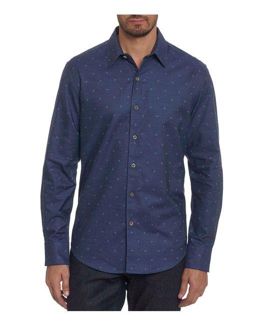 Robert Graham - Blue Gouverneur Classic Fit Shirt for Men - Lyst