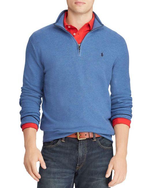 Polo Ralph Lauren - Blue Half-zip Sweater for Men - Lyst