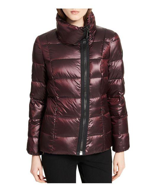 Calvin Klein | Multicolor Asymmetric Zip Front Down Coat | Lyst