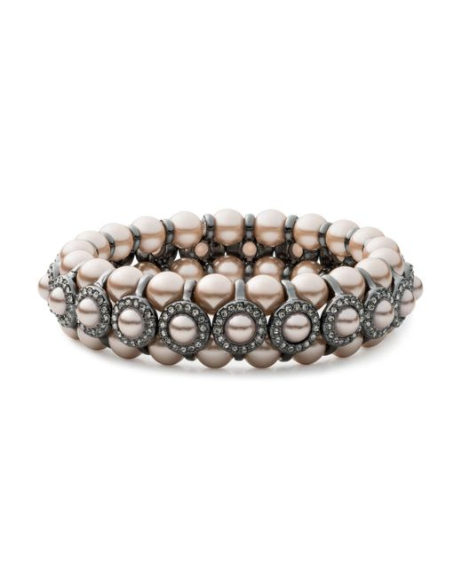 Carolee | Metallic Beaded Pavé Bracelet | Lyst