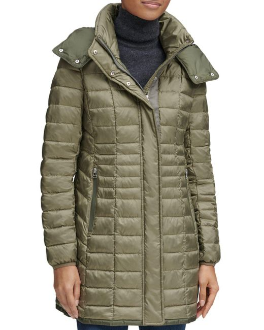 Marc New York - Green Marble Packable Hooded Puffer Coat - Lyst