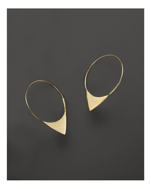 Lana Jewelry   Metallic 14k Yellow Gold Small Magic Elite Hoop Earrings   Lyst