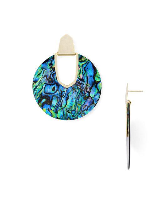 Kendra Scott - Blue Diane Earrings - Lyst