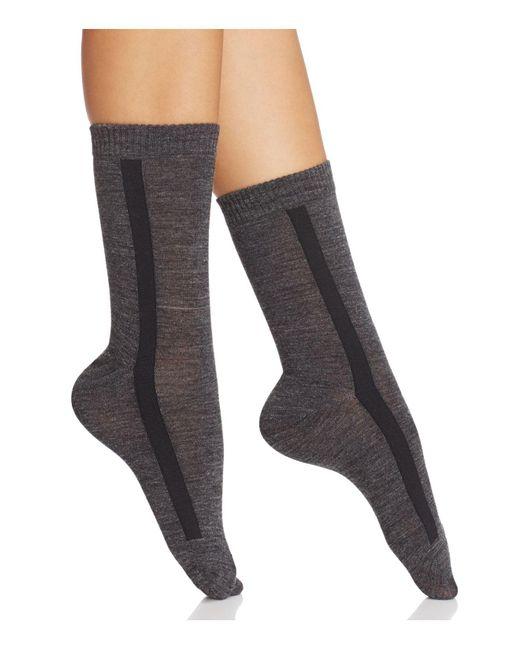 Hue | Gray Tuxedo Stripe Trouser Socks | Lyst