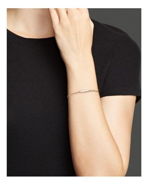Meira t 14k Yellow Gold Asymmetrical Diamond Bar Bracelet in