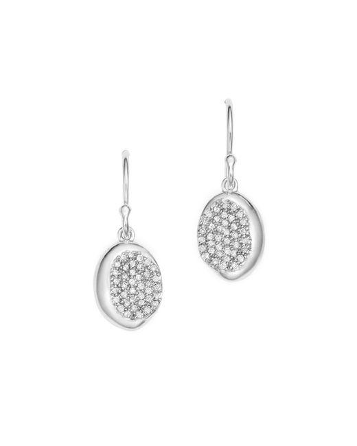 Ippolita - Metallic Sterling Silver Onda Diamond Drop Earrings - Lyst