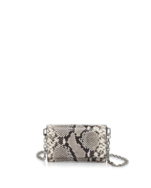 Tory Burch - Multicolor Robinson Embossed Snakeskin Leather Crossbody Chain Wallet - Lyst