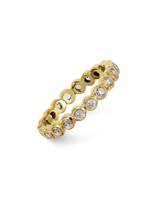 Temple St. Clair | Metallic 18k Gold Eternity Ring With Diamonds | Lyst