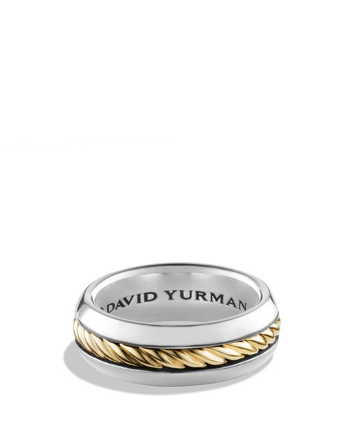 David Yurman - Metallic Cable Classics Ring With 18k Gold - Lyst