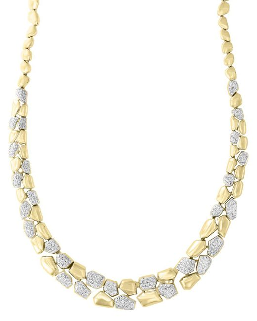 Bloomingdale's - Metallic Diamond Pebble Necklace In 14k Yellow Gold, 1.70 Ct. T.w. - Lyst