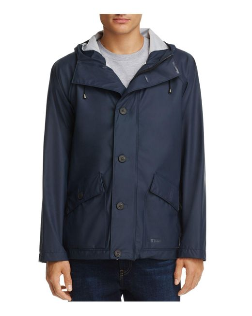 Stutterheim - Blue Stenhamra Lightweight Hooded Rain Coat for Men - Lyst