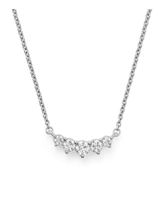 Bloomingdale's - Graduated Diamond Necklace In 14k White Gold, .75 Ct. T.w. - Lyst