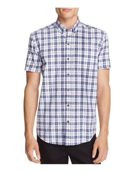 W.r.k. | Blue Plaid Slim Fit Button-down Shirt for Men | Lyst
